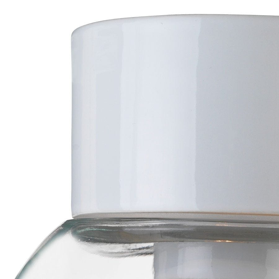 Ifö Classic Glob Vegg-/Taklampe Klart Glass Hvit/Sort 20 cm-69760