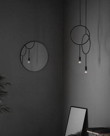 Northern Lighting Circle Taklampe Mørk Matt Grå-0