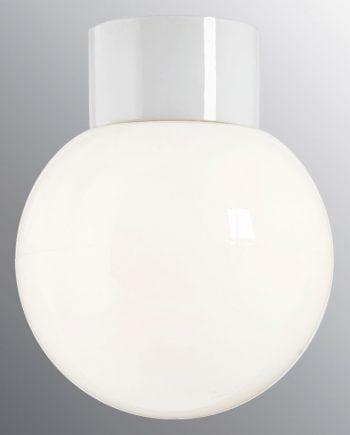 Ifö Classic Glob Vegg-/Taklampe Opalt Glass Hvit/Sort 18 cm-0