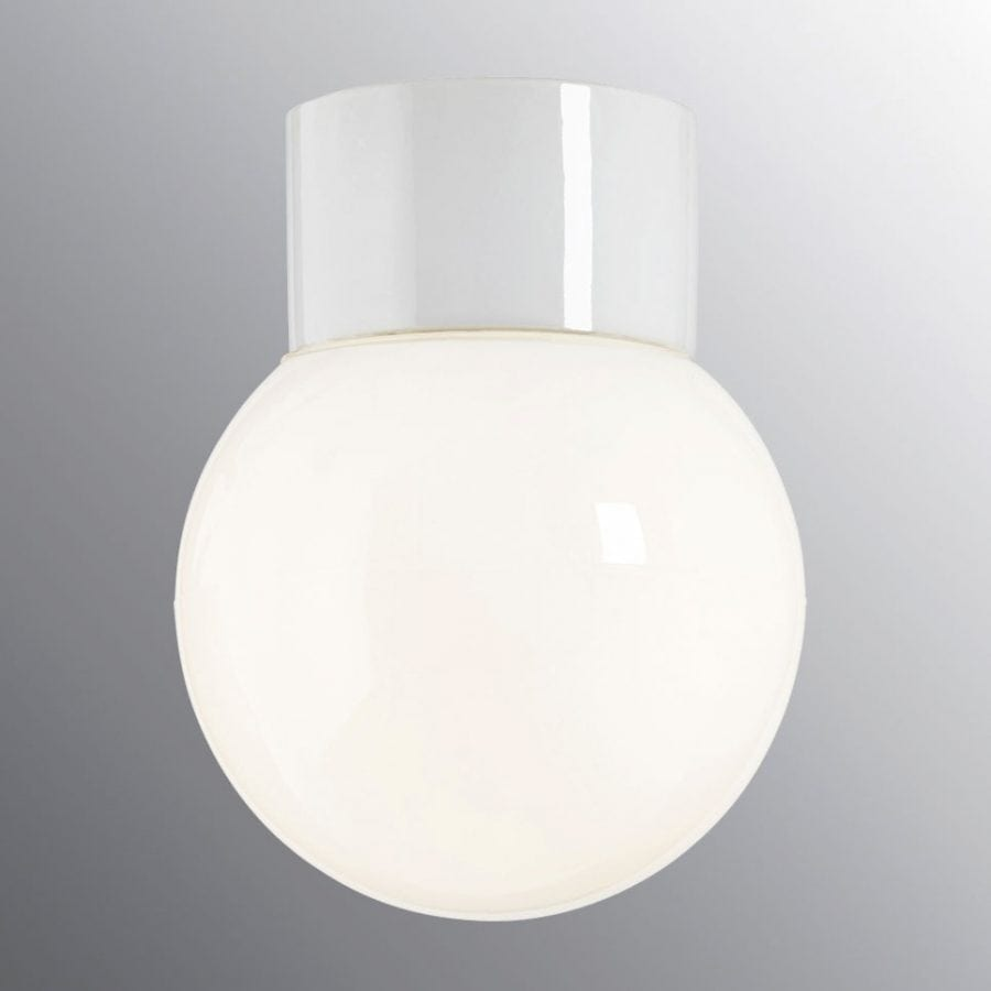 Ifö Classic Glob Vegg-/Taklampe Opalt Glass Hvit/Sort 15 cm-69775