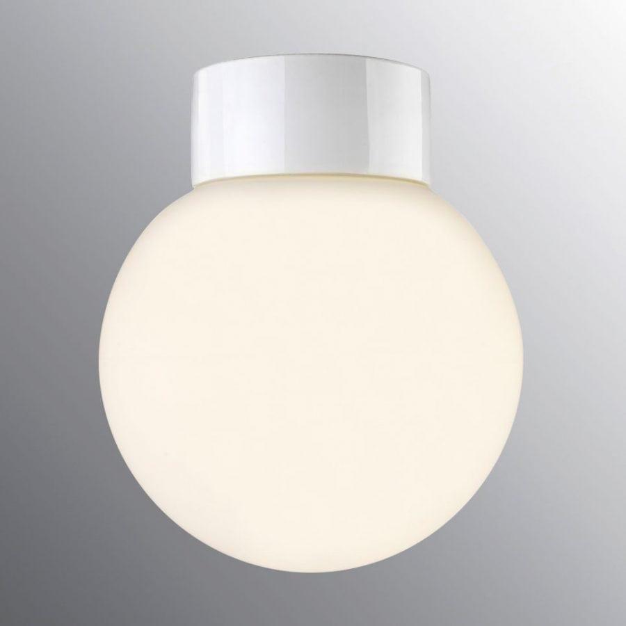 Ifö Classic Glob Vegg-/Taklampe Opalt Glass Hvit/Sort 20 cm-69792