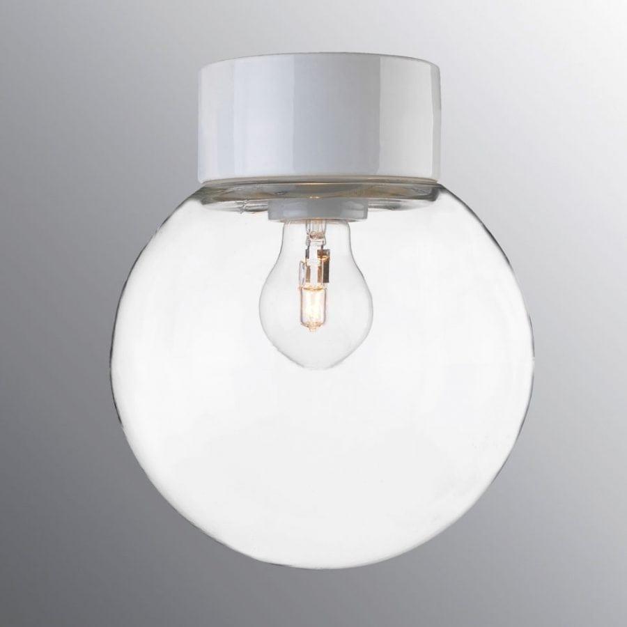 Ifö Classic Glob Vegg-/Taklampe Klart Glass Hvit/Sort 20 cm-0