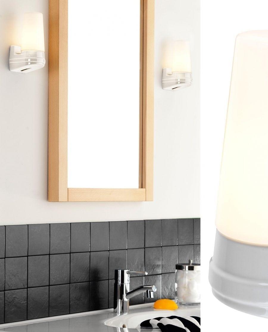 Ifö Bernadotte Vegglampe Singel Hvit/Grå/Sort-70509