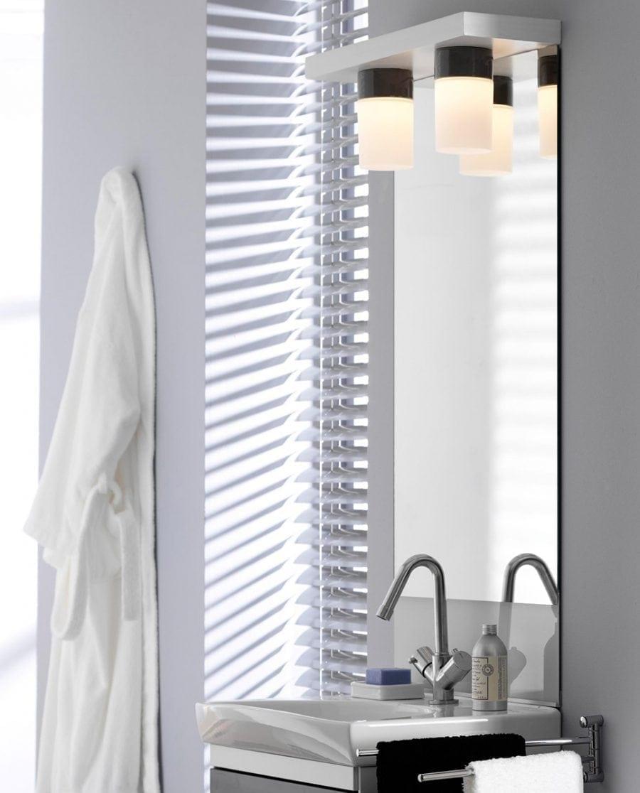 Ifö Opus 100/175 Vegg-/Taklampe Opalt Glass Hvit/Grå/Sort-70523