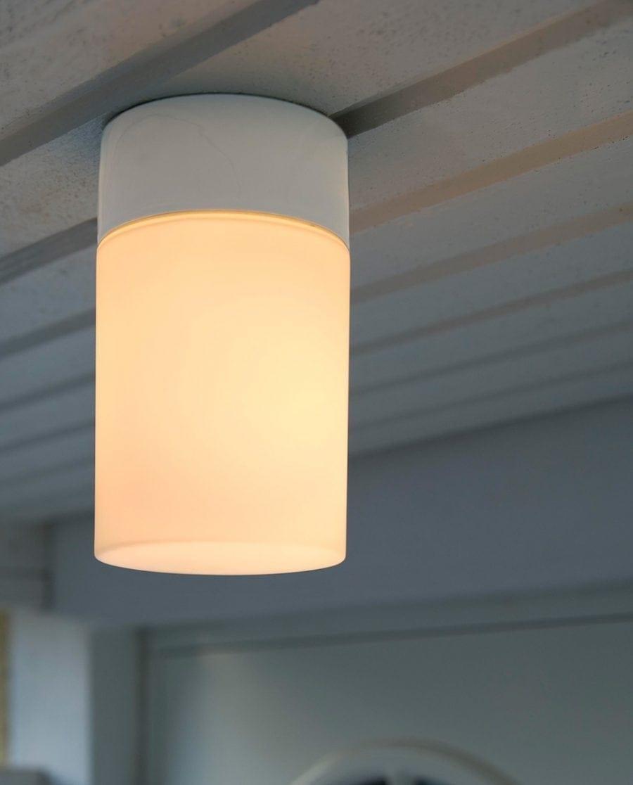 Ifö Opus 100/175 Vegg-/Taklampe Opalt Glass Hvit/Grå/Sort-70528
