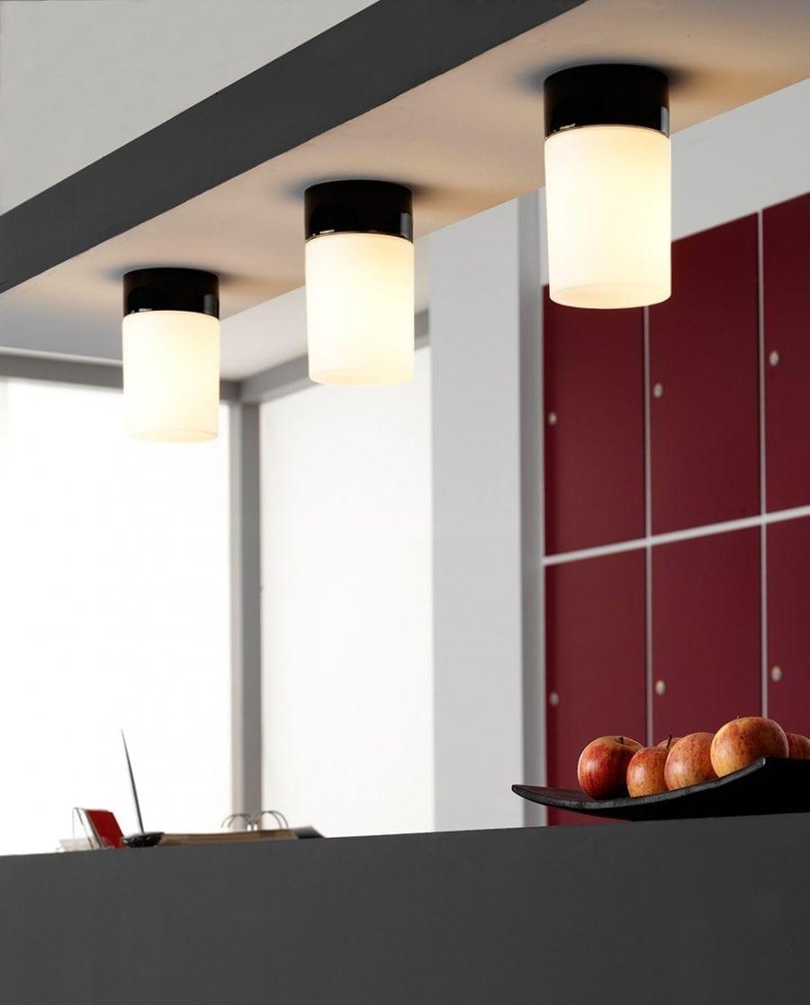 Ifö Opus 100/175 Vegg-/Taklampe Opalt Glass Hvit/Grå/Sort-70530
