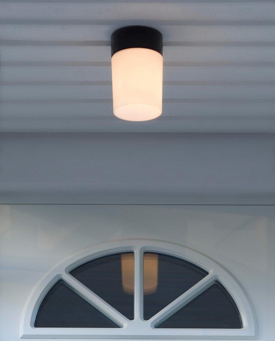 Ifö Opus 100/175 Vegg-/Taklampe Opalt Glass Hvit/Grå/Sort-70527