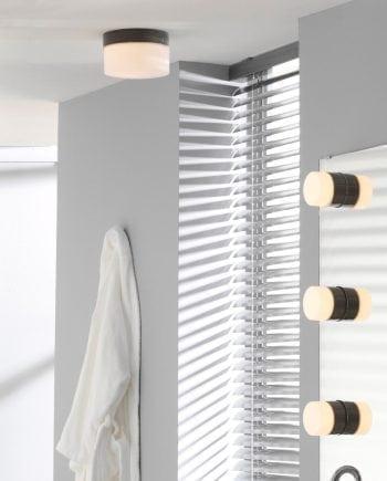 Ifö Opus 200/135 Vegg-/Taklampe Hvit/Grå/Sort-0