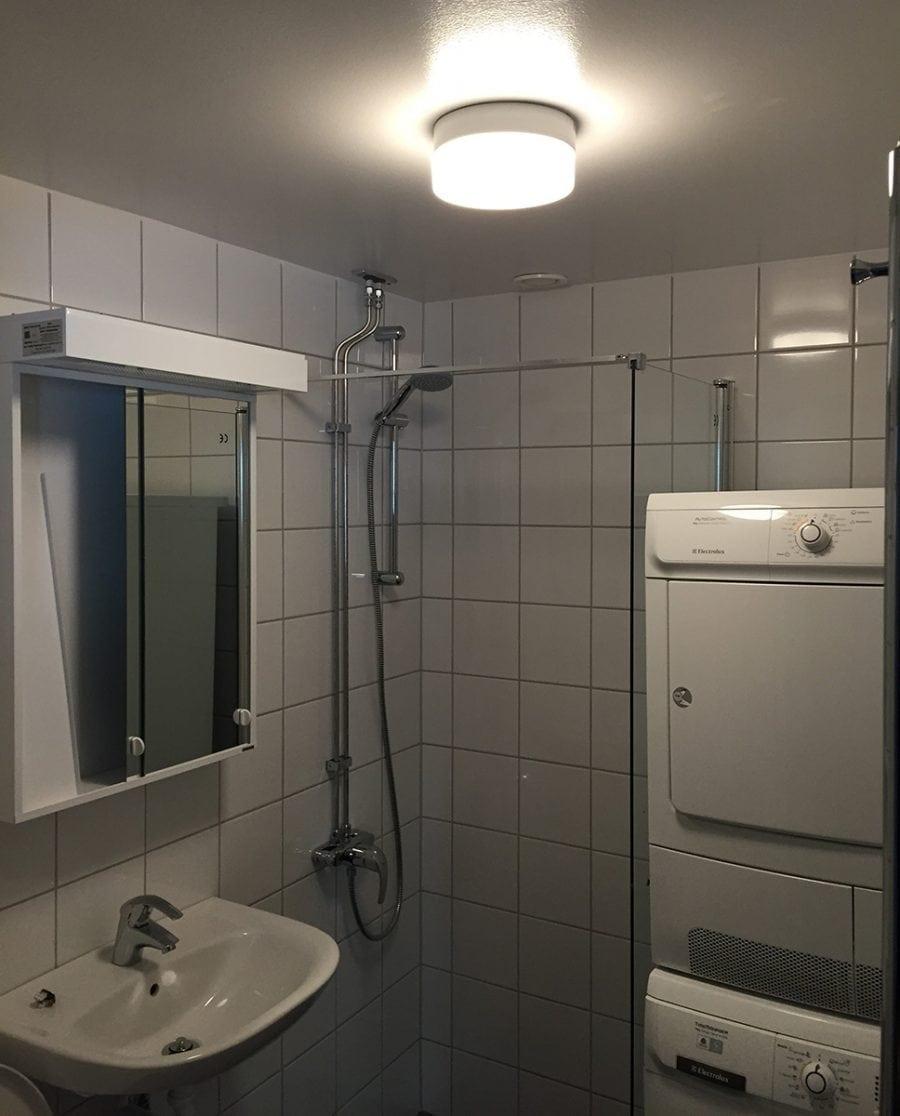 Ifö Opus 200/135 Vegg-/Taklampe Hvit/Grå/Sort-70531