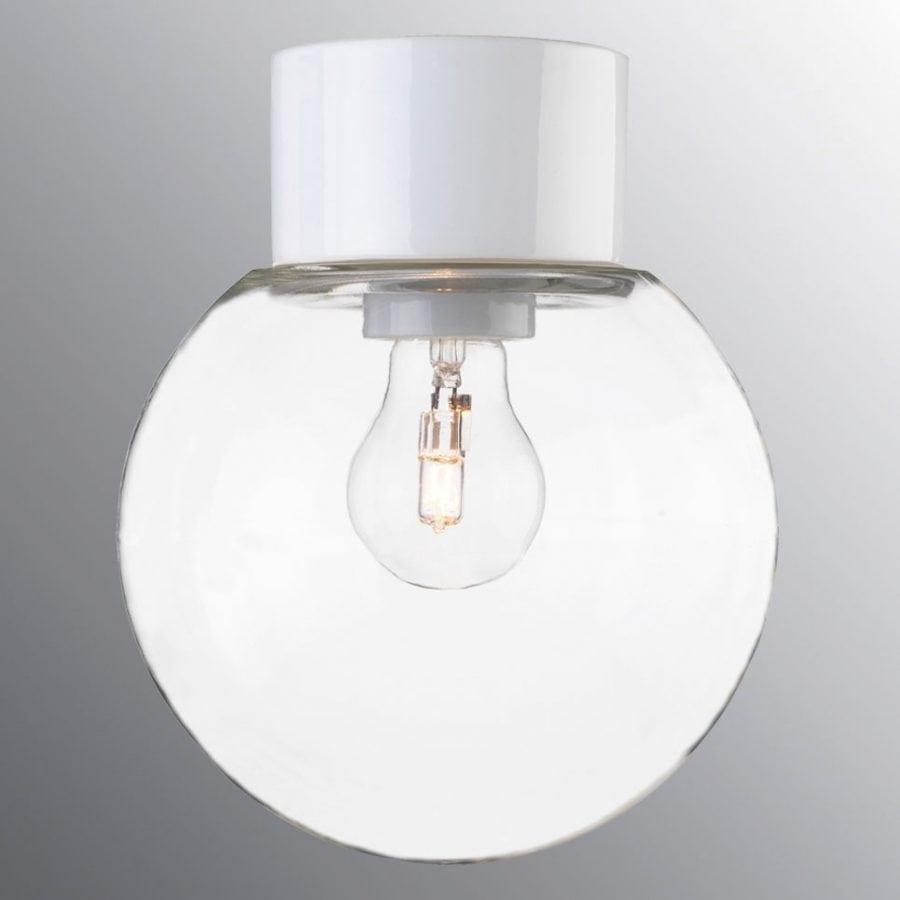 Ifö Classic Glob Vegg-/Taklampe Klart Glass Hvit/Sort 18 cm-69747