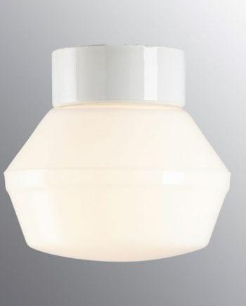 Ifö Classic Vegg-/Taklampe Opalt Glass Hvit 17 cm-0