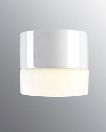 Ifö Aton Giza Vegg-/Taklampe Hvit/Grå/Sort-0