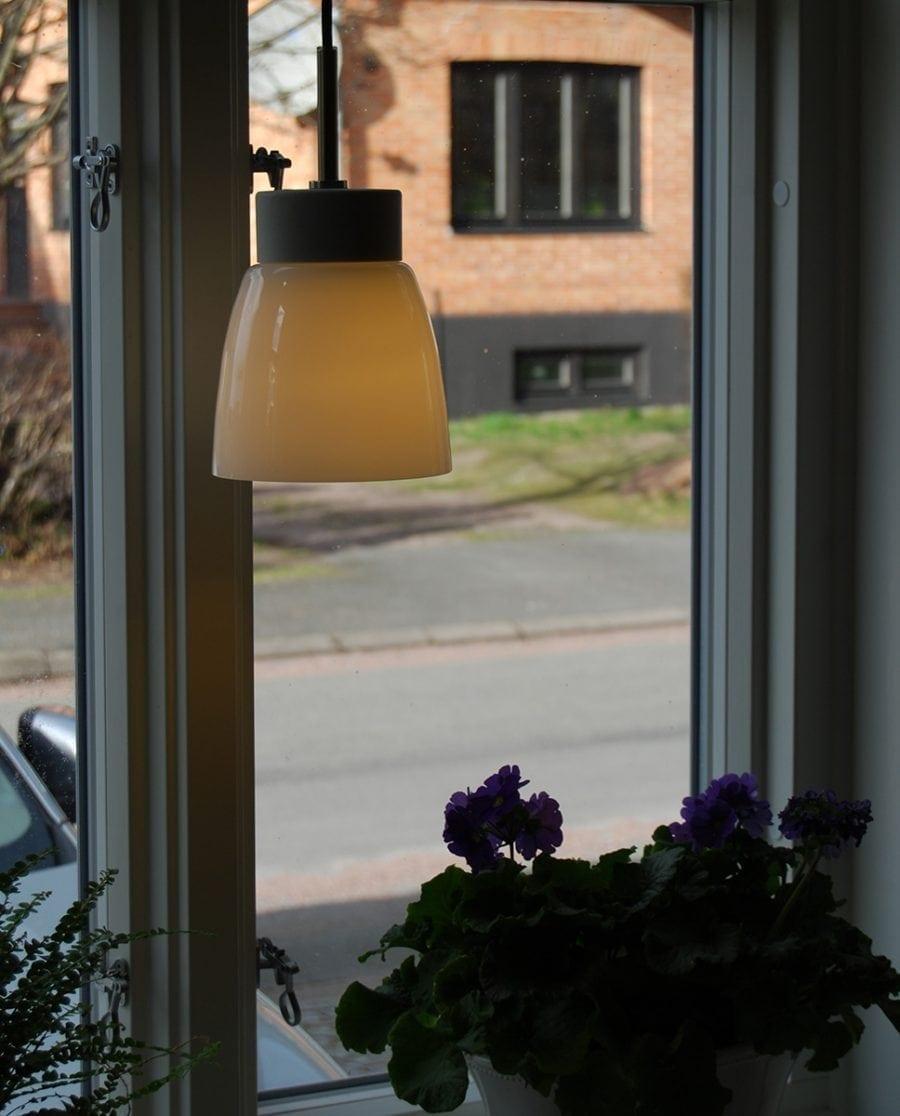 Ifö Smycka Klara Taklampe Hvit Sokkel Klart/Opalt Glass-0