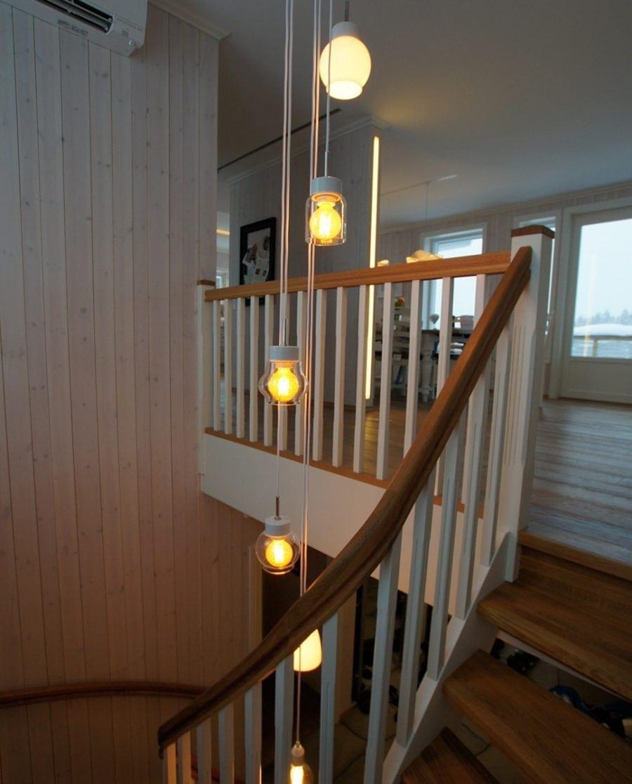 Ifö Smycka Klara Taklampe Hvit Sokkel Klart/Opalt Glass-70430