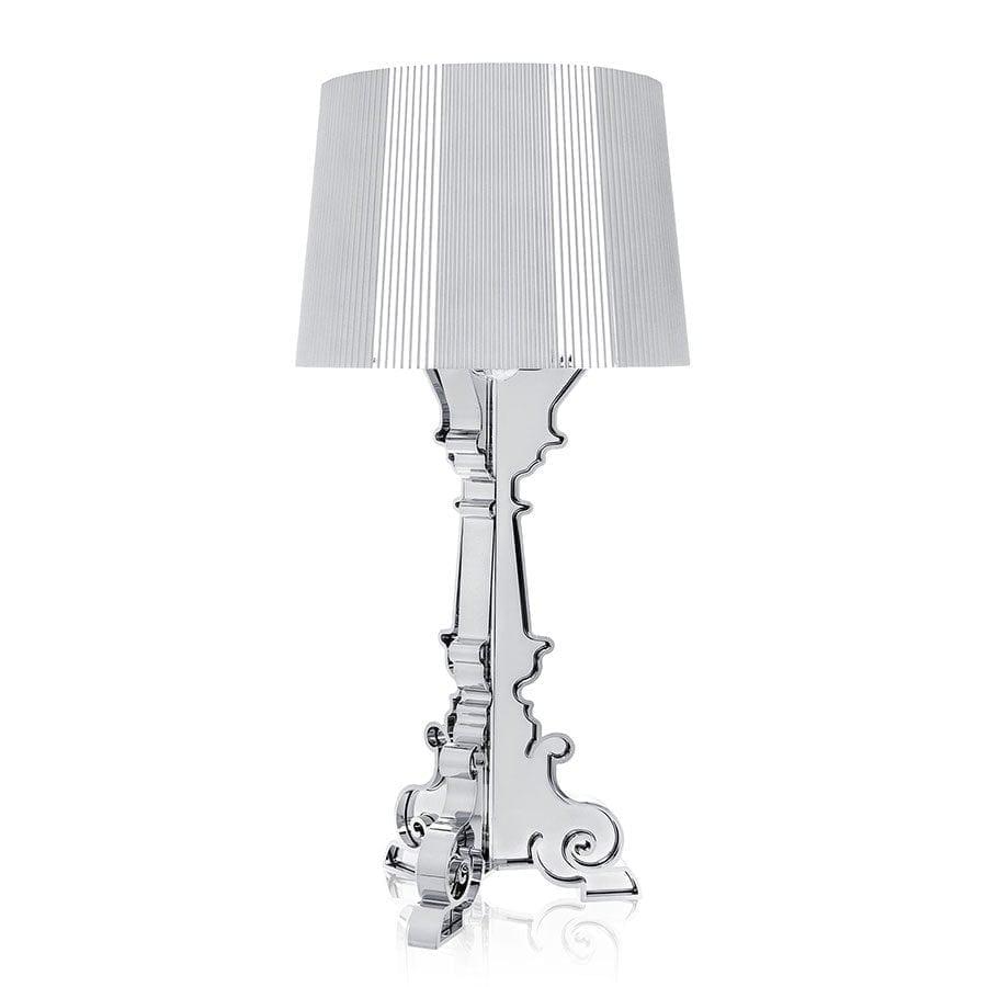 Kartell Bourgie Metallic Bordlampe Sølv Ustillingsmodell-0