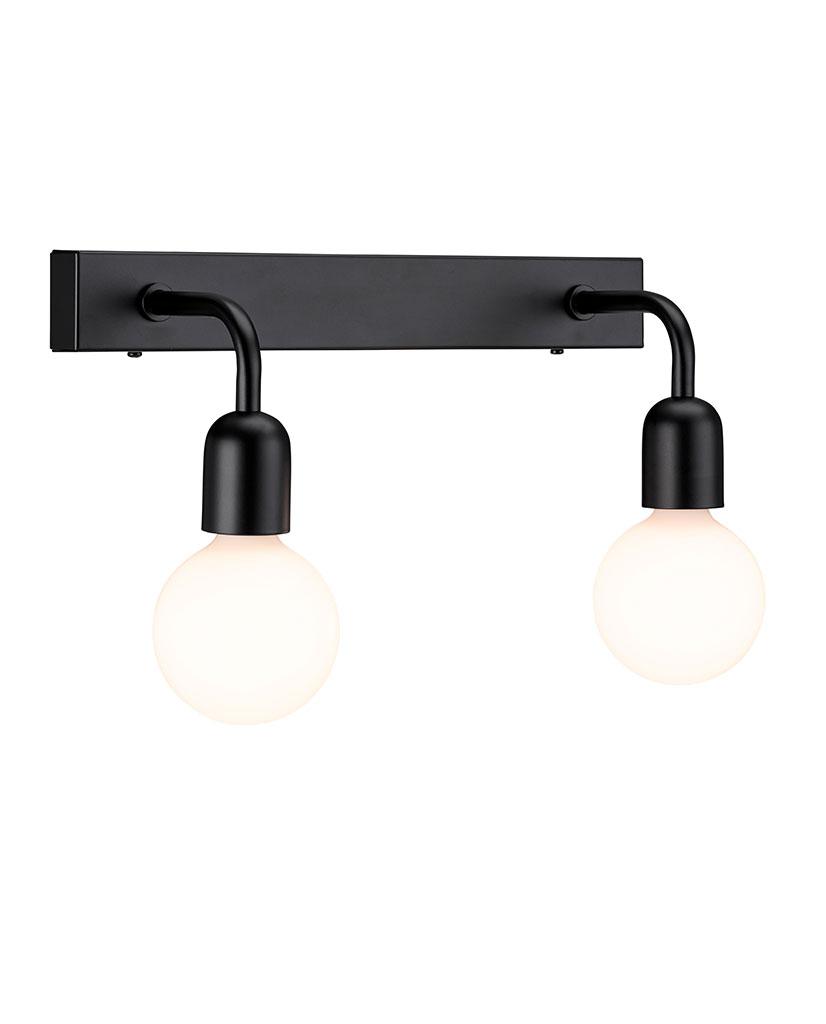 530607-Belid-Regal-Dobbel-Vegglampe-Sort_2