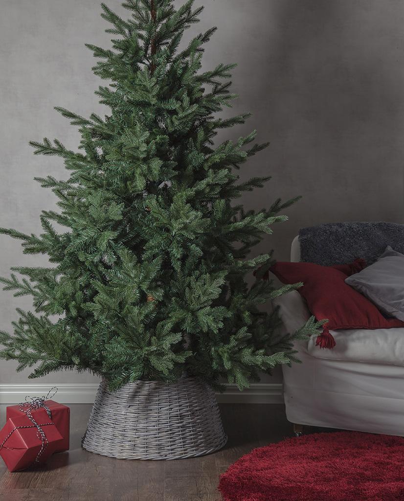 080-55-Granig-Kurv-Juletrefotskjuler-Grå_m