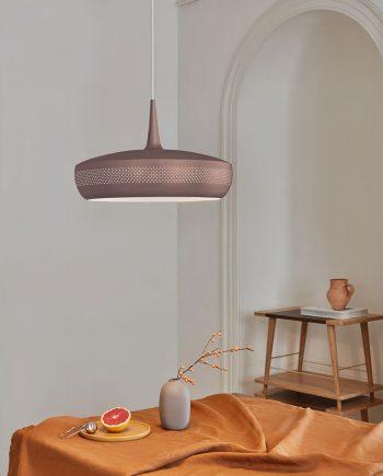 UMAGE Acorn Lampeskjerm HvitKobber Designbelysning.no